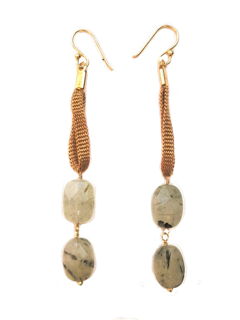 Prehnite Double Drop Earring