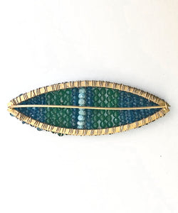 Blue Waters Beaded Pin