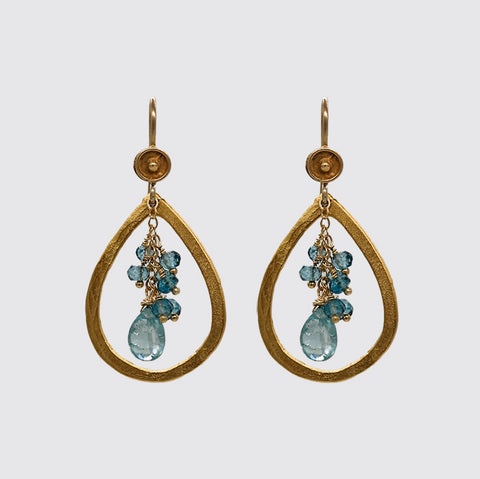Cluster, Pear Shape Frame Earring