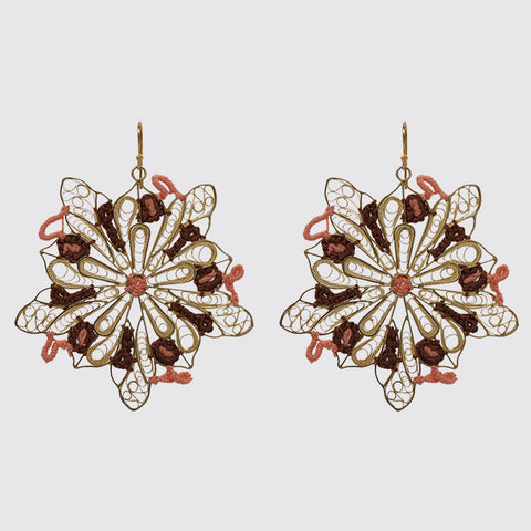 Filigree Earring with Embroidery