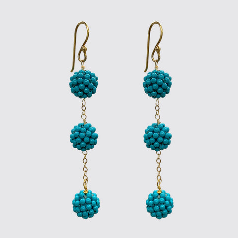 Turquoise on chain Earrings