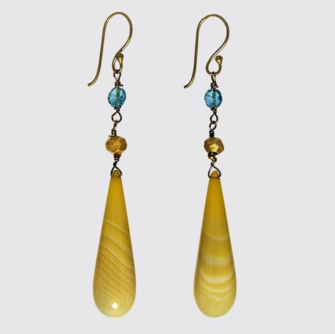 Yellow Agate Teardrop