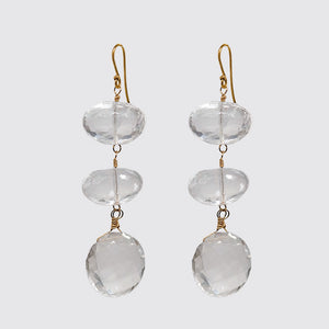 Faceted Rock Crystal Statement Earring