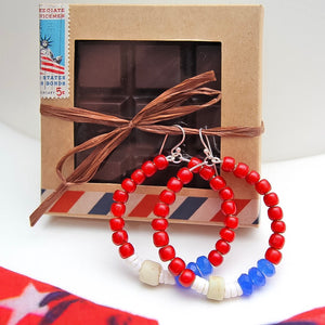 PATRIOTIC GIFT SET CHERRY ALMOND 75% DARK