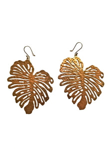 Peruvian Cut-out Leaf Earrings