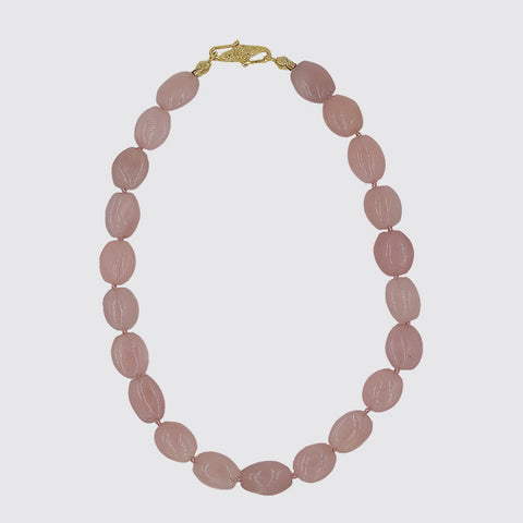 Pink Moonstone Knotted Necklace