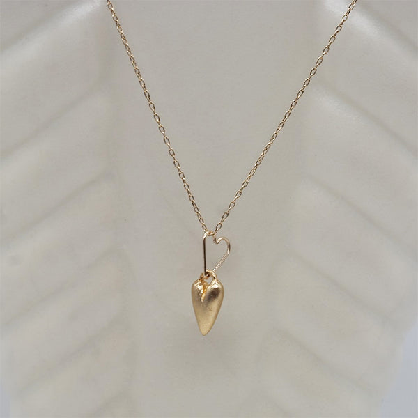 Cast Heart Necklace on Chain