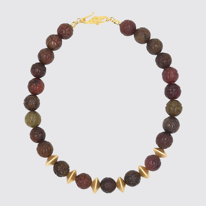 Stone Gold Bead Necklace