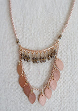 Rose Gold Leaf Drop Necklace