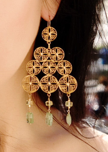 Medallion Filigree Earrings