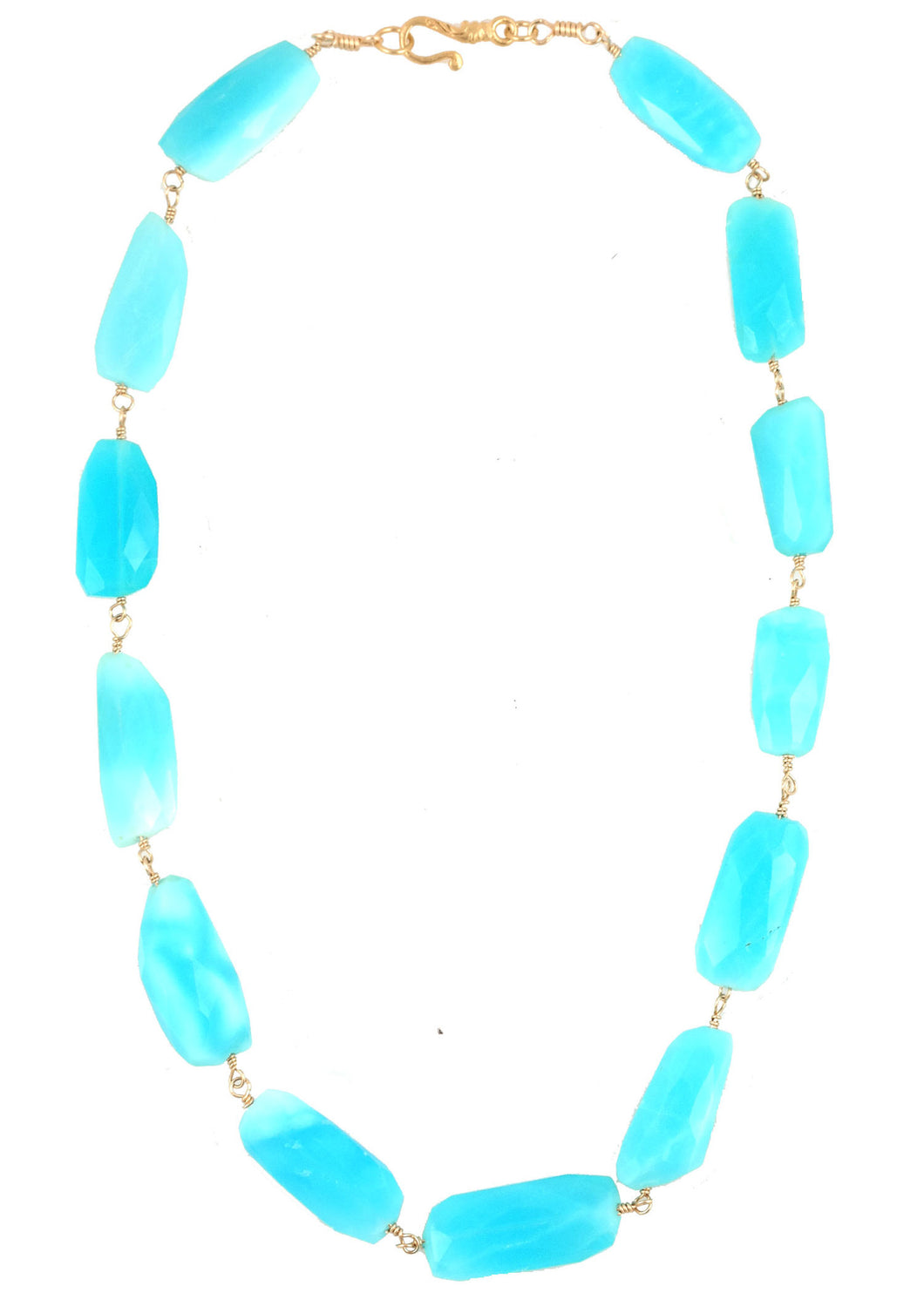 Blue Opal Rosary Necklace