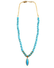 Turquoise knotted Necklace