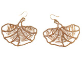 Gold Filigree Fan Drop Earring
