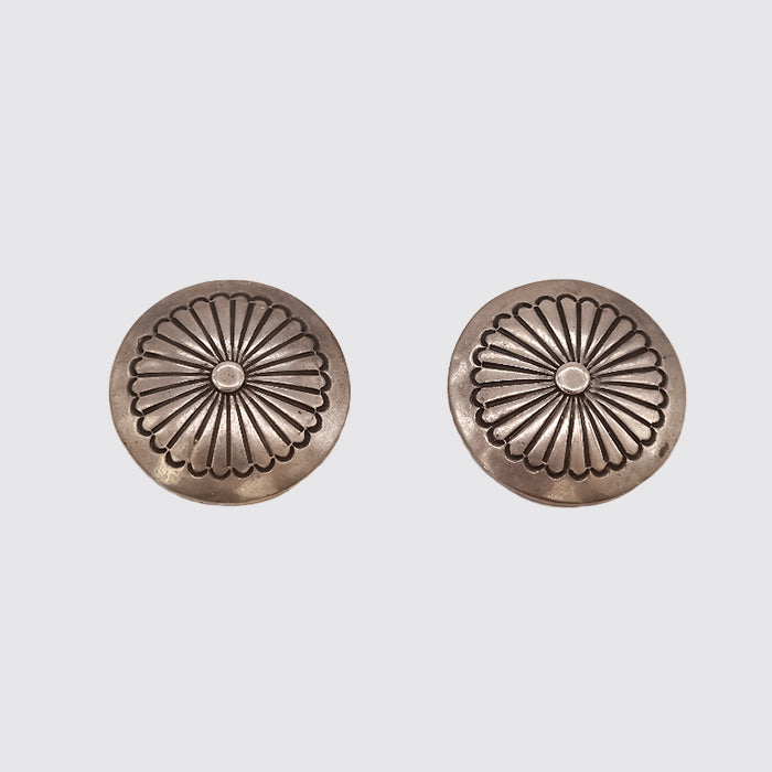 Native American Sterling Clip on Earrings