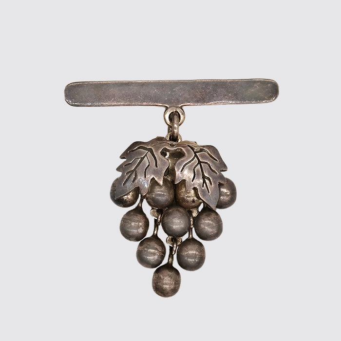 Vintage Sterling Bunch-of-Grapes Pin