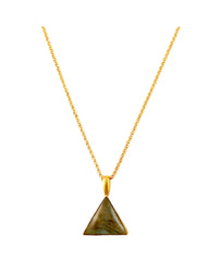 Triangle Labradorite Pendant Necklace