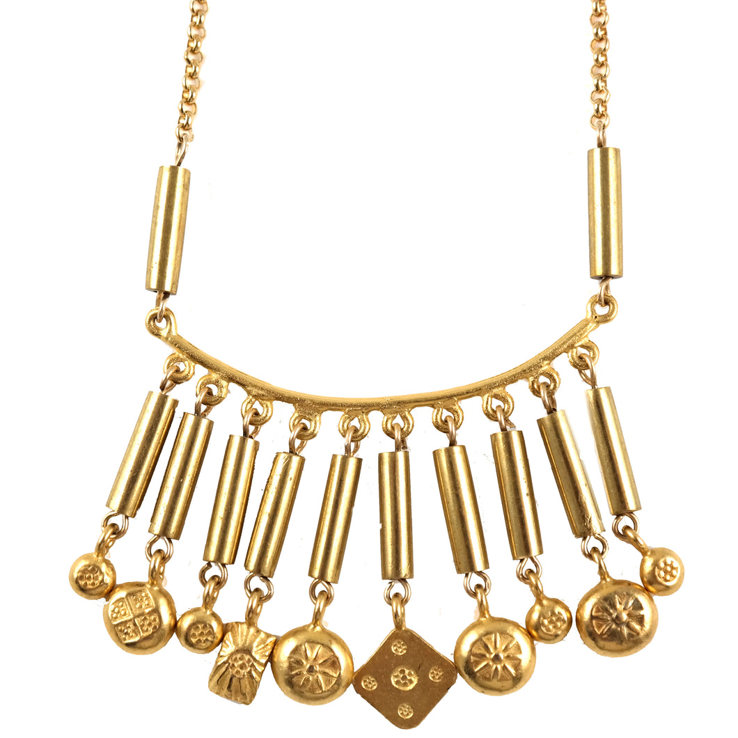Gold Vermeil Charm Necklace