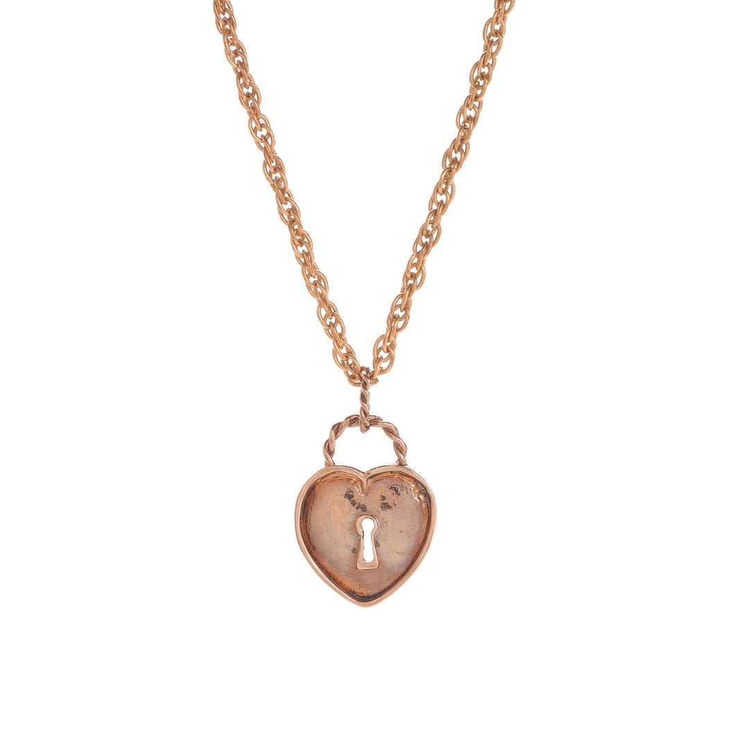 Vinatge Heart Rose Necklace