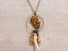 Gold Charm Long Necklace