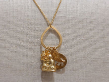 Gold Buddha Charm Necklace