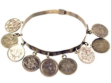 Victorian Silver Love Token Charm Coin Bracelet, 1800s