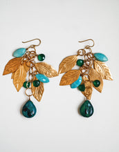 Dangling Leaf Turquoise Earrings