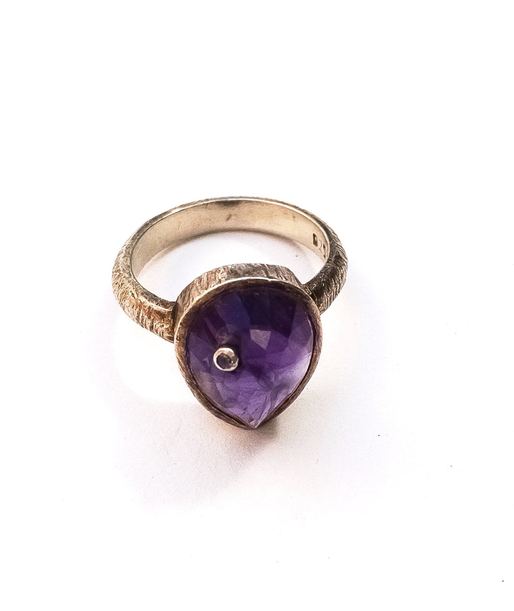 Amethysts Diamond Inset Cocktail Ring