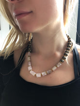 Pyrite & Kunzite Contrast Necklace