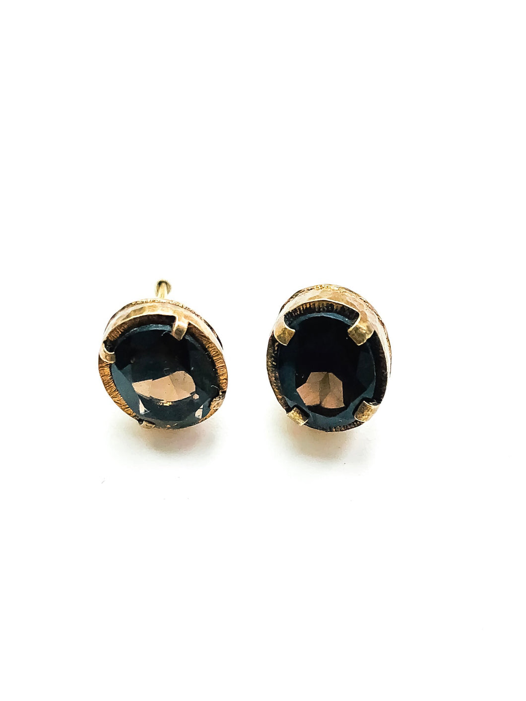 Smoky Topaz Post Earrings, Small