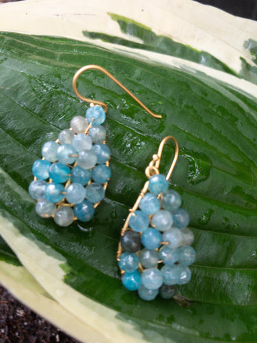 Mixed Blue Agate Teardrops