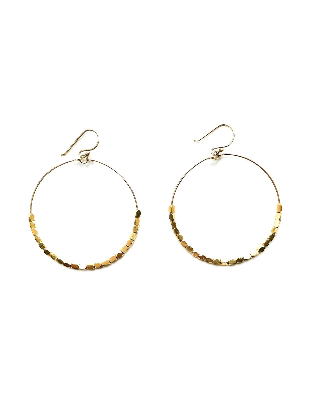 "2"" Gold Hoop Earrings"