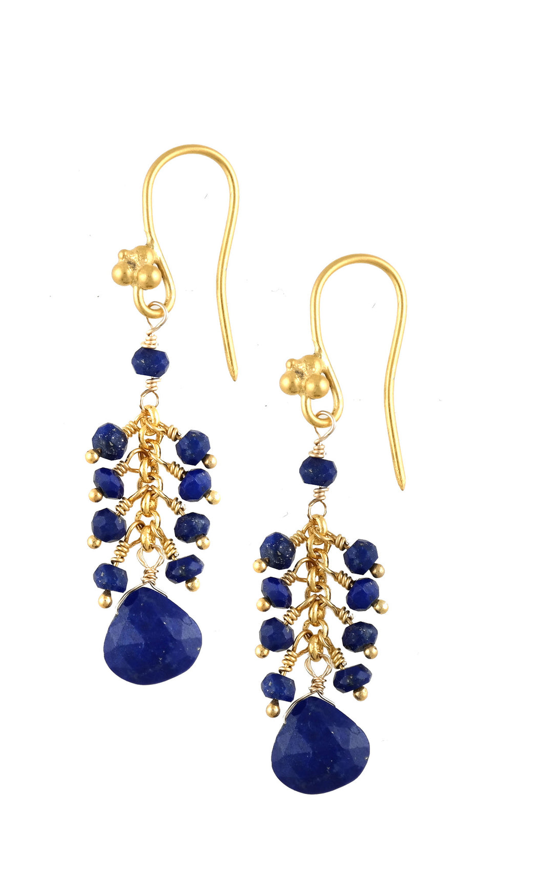 Blue Lapis Cascade Drop Earring