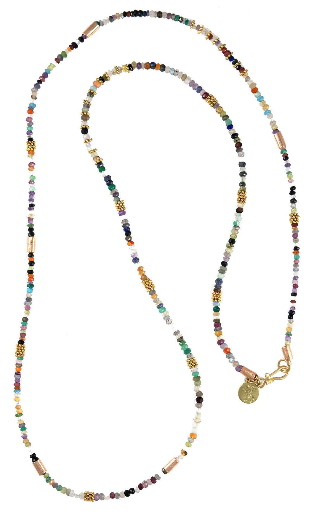 Multi Color cz Long Necklace