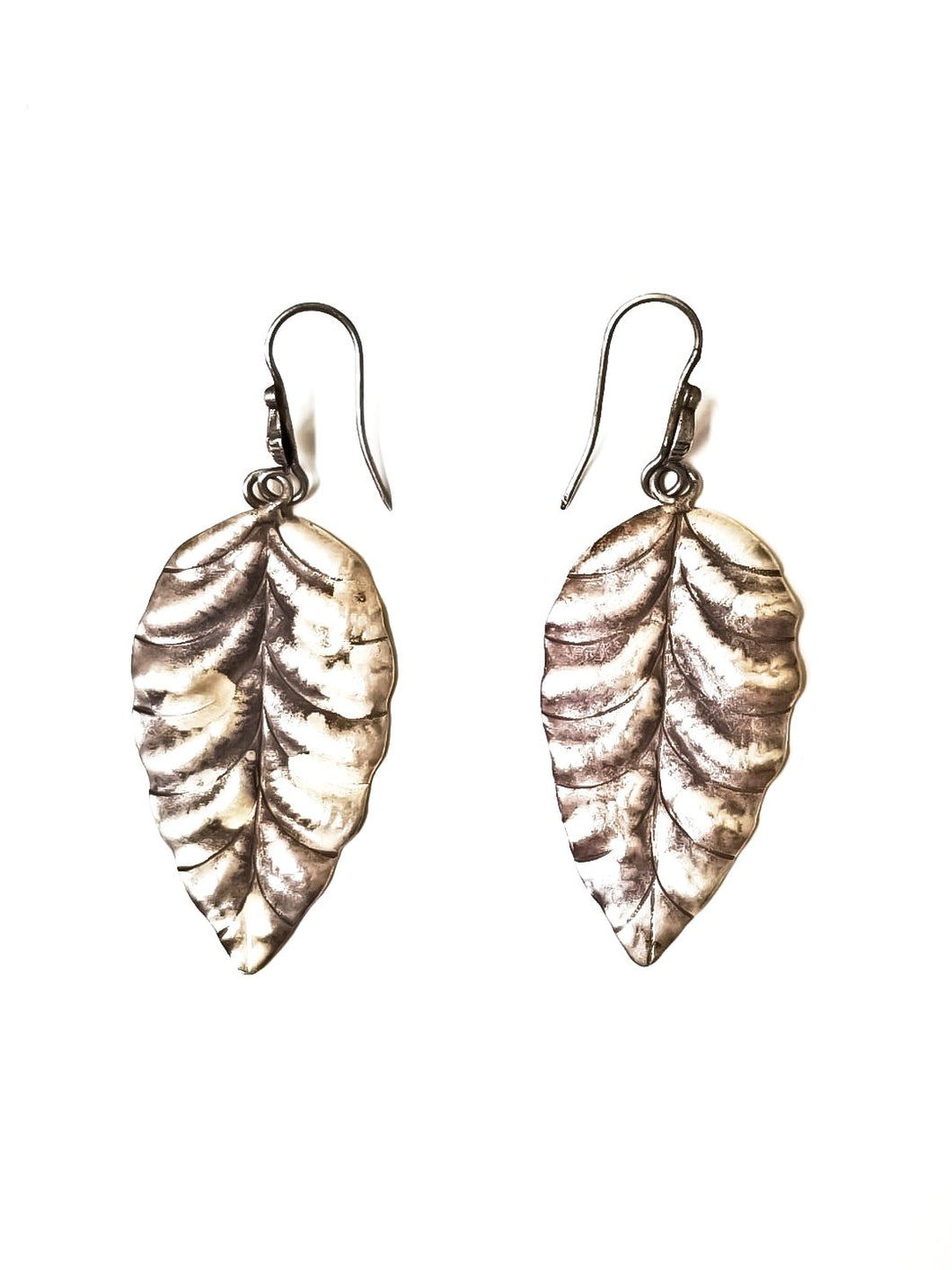 Silver Nature Leaf Earrings