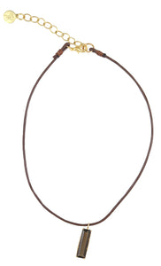 Smokey Topaz Pendant Choker Necklace