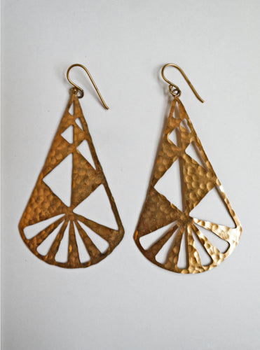 Triangle Cut-Out Earrings