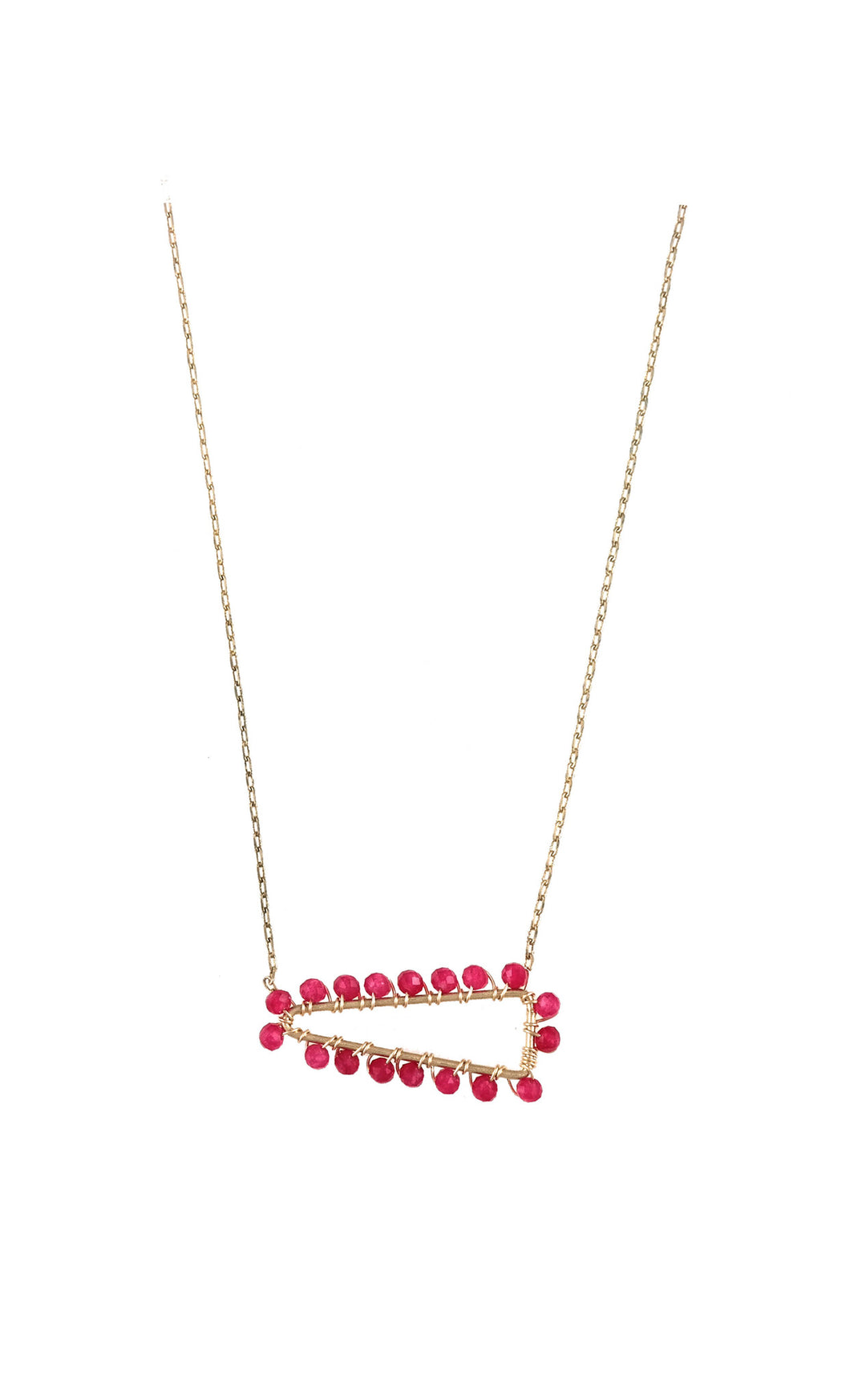Ruby Wrap Necklace