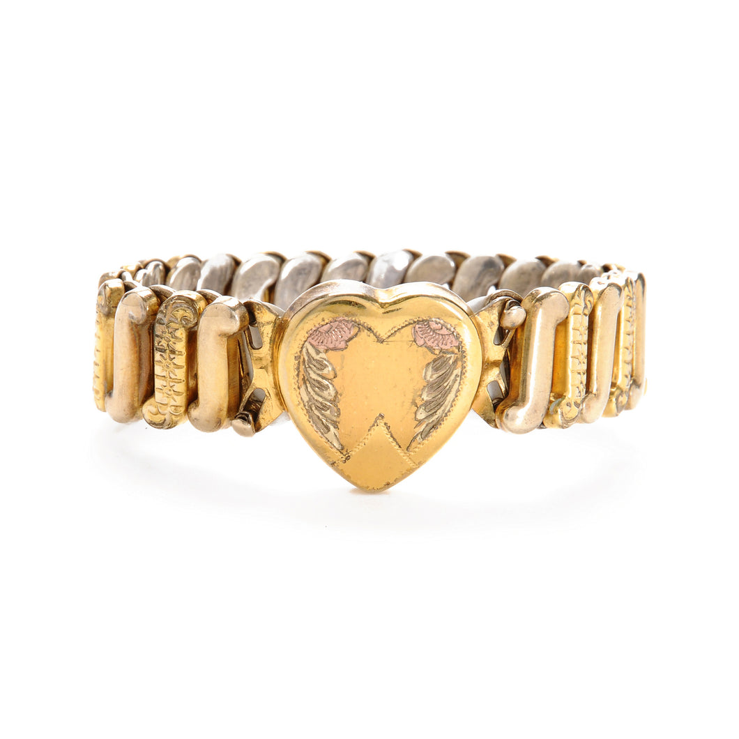 Vintage Heart Stretch Bracelet