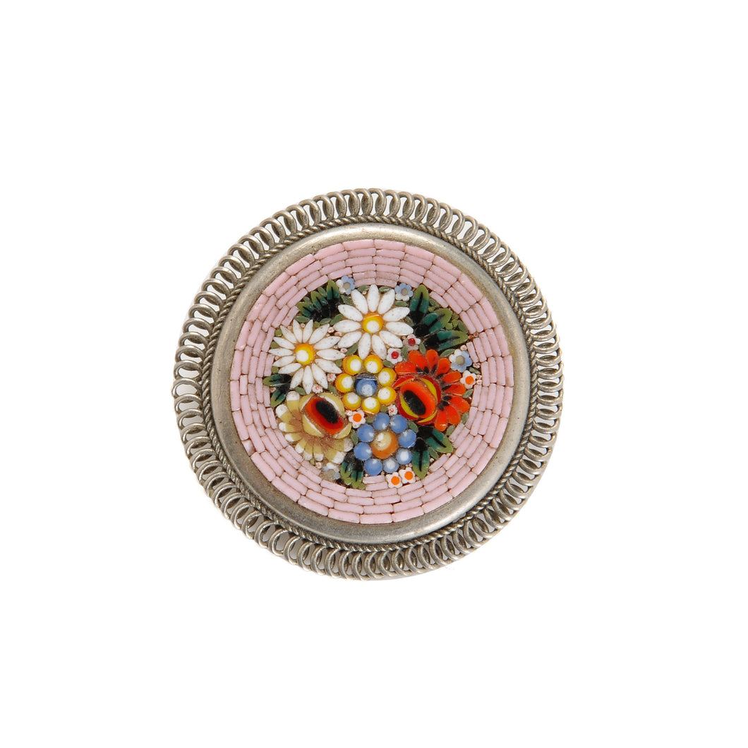 Vintage Rose Mosaic Pin