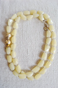 Hand-Knotted Yellow Chalcedony Necklace