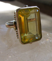 Brazilian Green Gold Gemstone Ring