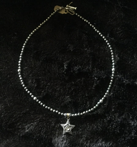 Diamond Star and Pyrite Necklace