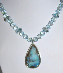 Atlantean Orb and Boulder Opal Necklace