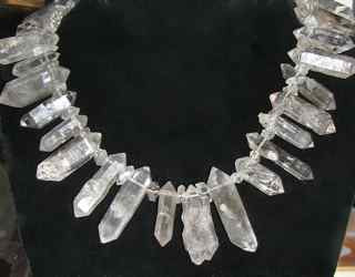 Tibetan Quartz Points Necklace raw