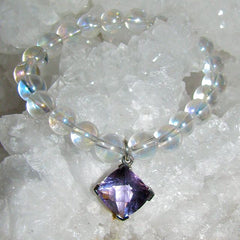 Angel Aura Bracelet with Amethyst charm