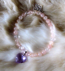 Rose Quartz and Ametrine Charm Bracelet