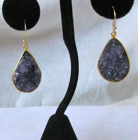 Amethyst Druzy Earrings