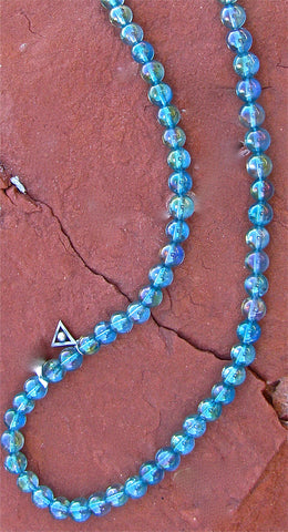 Aqua Aura Atlantean orb necklace