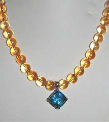 Golden Aura Necklace with Pendant