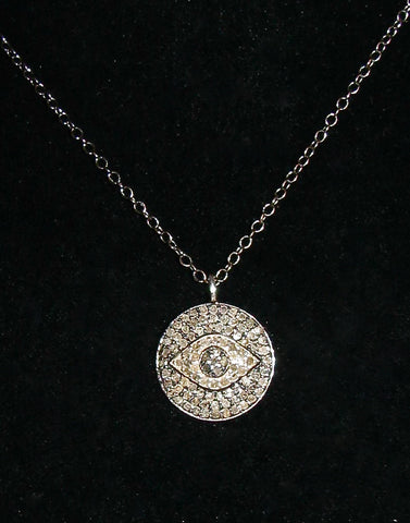 Diamond Eye Pendant on chain